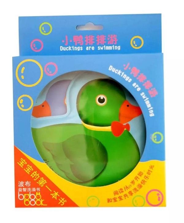 《小鸭排排游》波布益智洗澡书